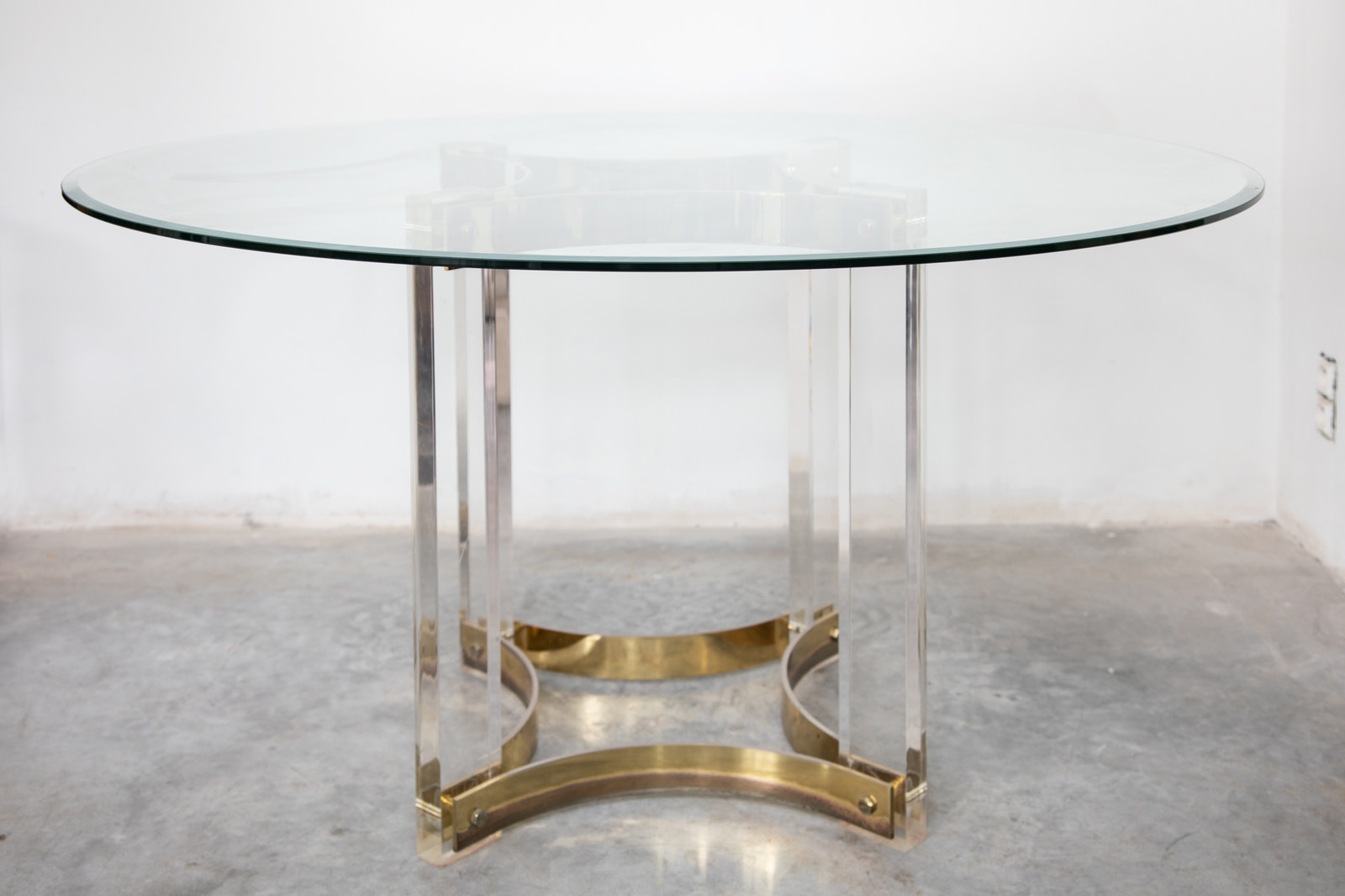 Round Glass Top Lucite Dining Table Glass Ceiling Search Results European Antiques Decorative